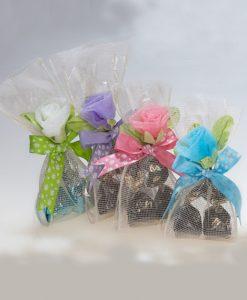 Bolsa decorada 4 bombones