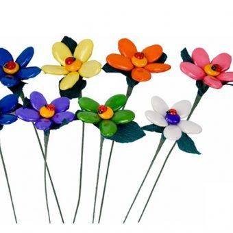 Flores de peladillas de chocolate