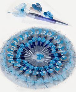 Expositor tarta Bautizo con 20 unidades de bolígrafo y bebé