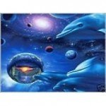 Aquamarine Dolphin Ray Reiki
