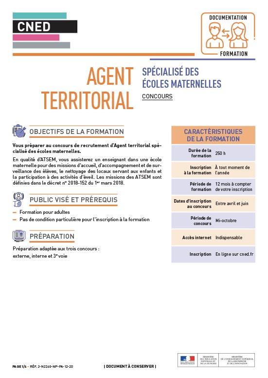 ATSEM Agent territorial maternelles