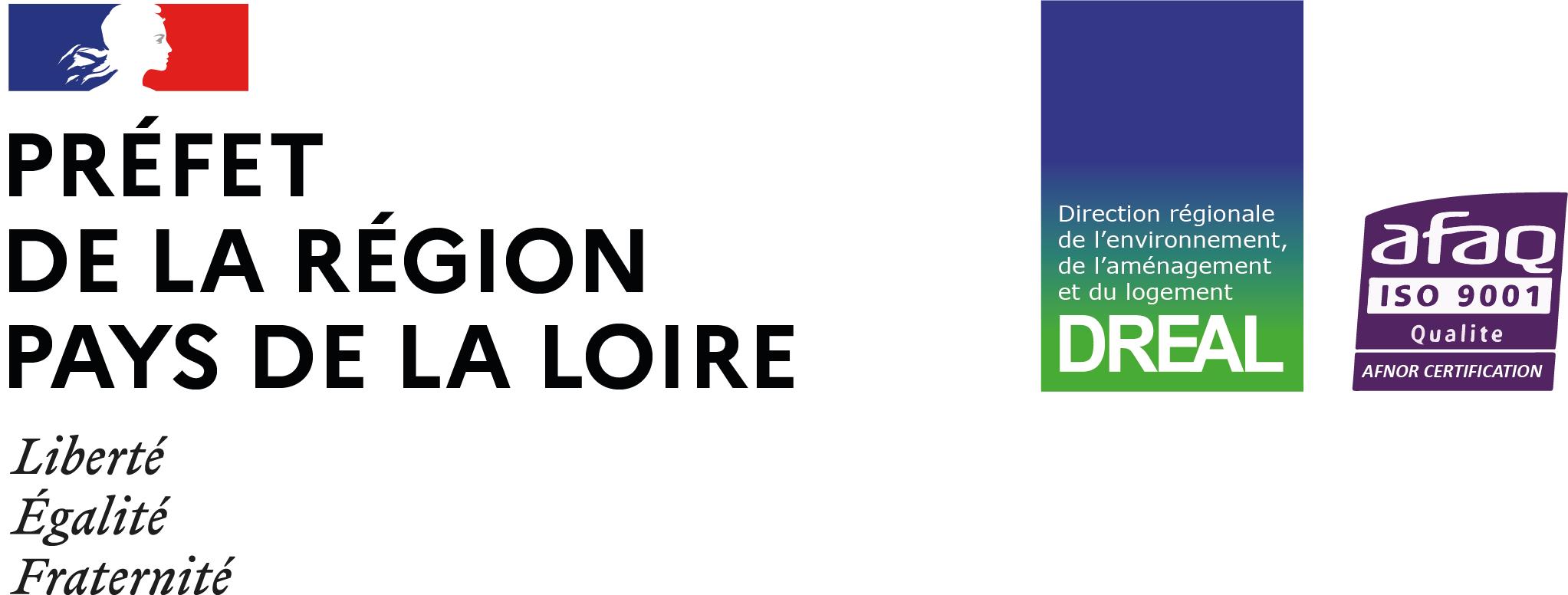 Logo de Direction régionale de l'environnement, de l'aménagement et du logement des Pays de la Loire