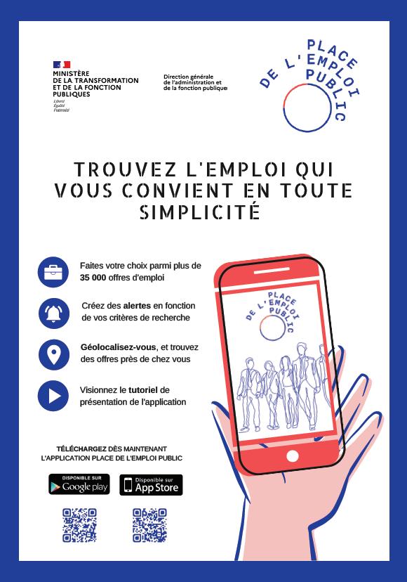 Appli Smartphone Place de l'Emploi Public