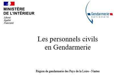 Présentation personnels civils en gendarmerie