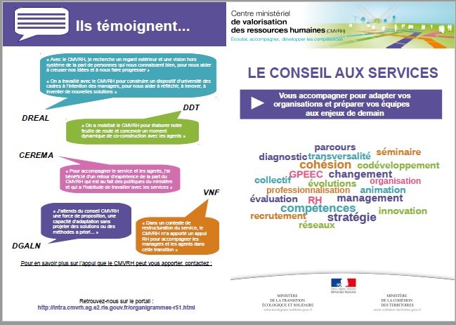 Plaquette de présentation du Conseil aux services
