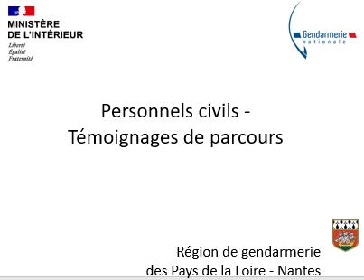 Témoignages de parcours de personnels civils