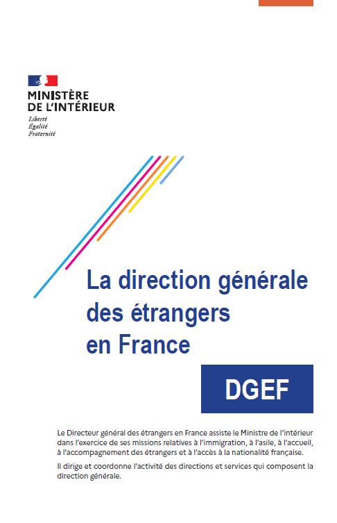Plaquette de présentation de la DGEF