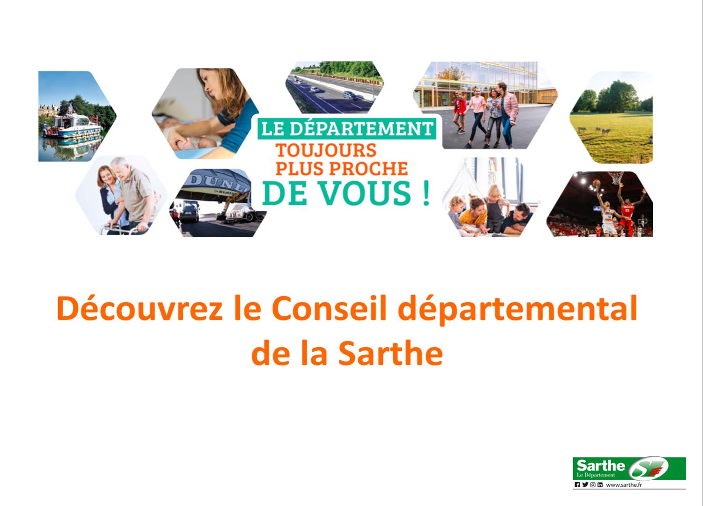 Découvrez le Conseil départemental de la Sarthe
