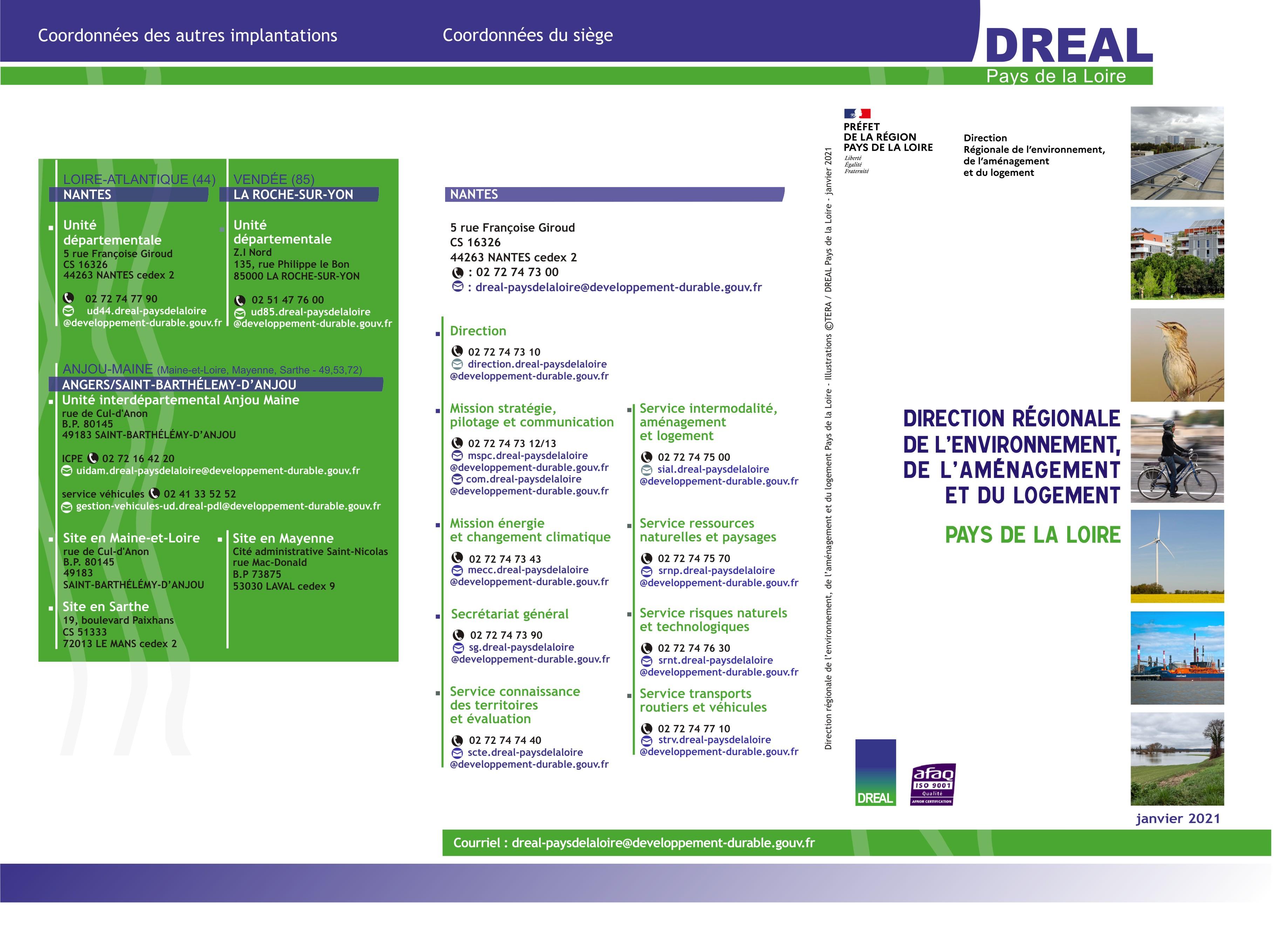 Organigramme DREAL janvier 2021