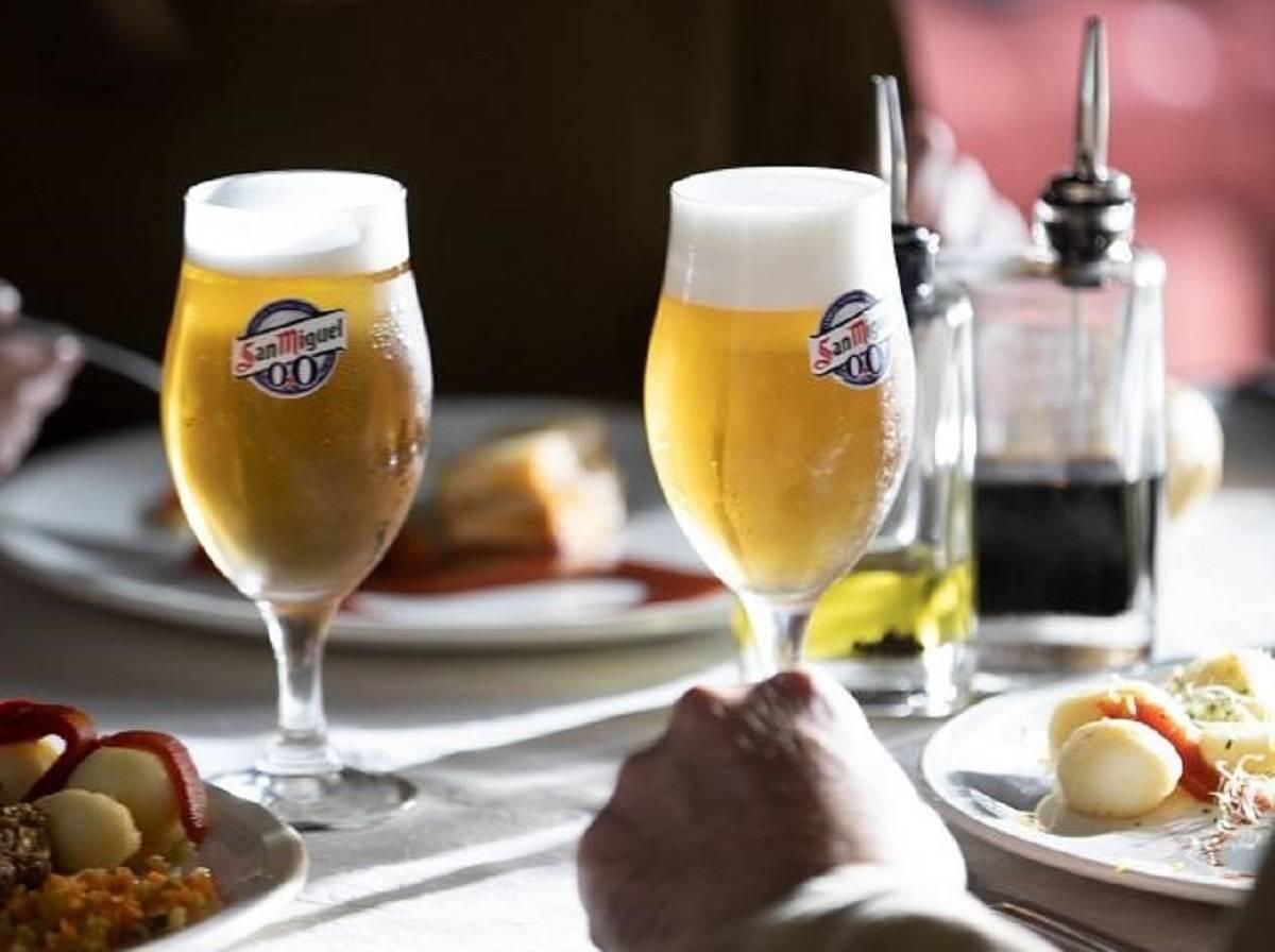 mesa cerveza san miguel 0,0