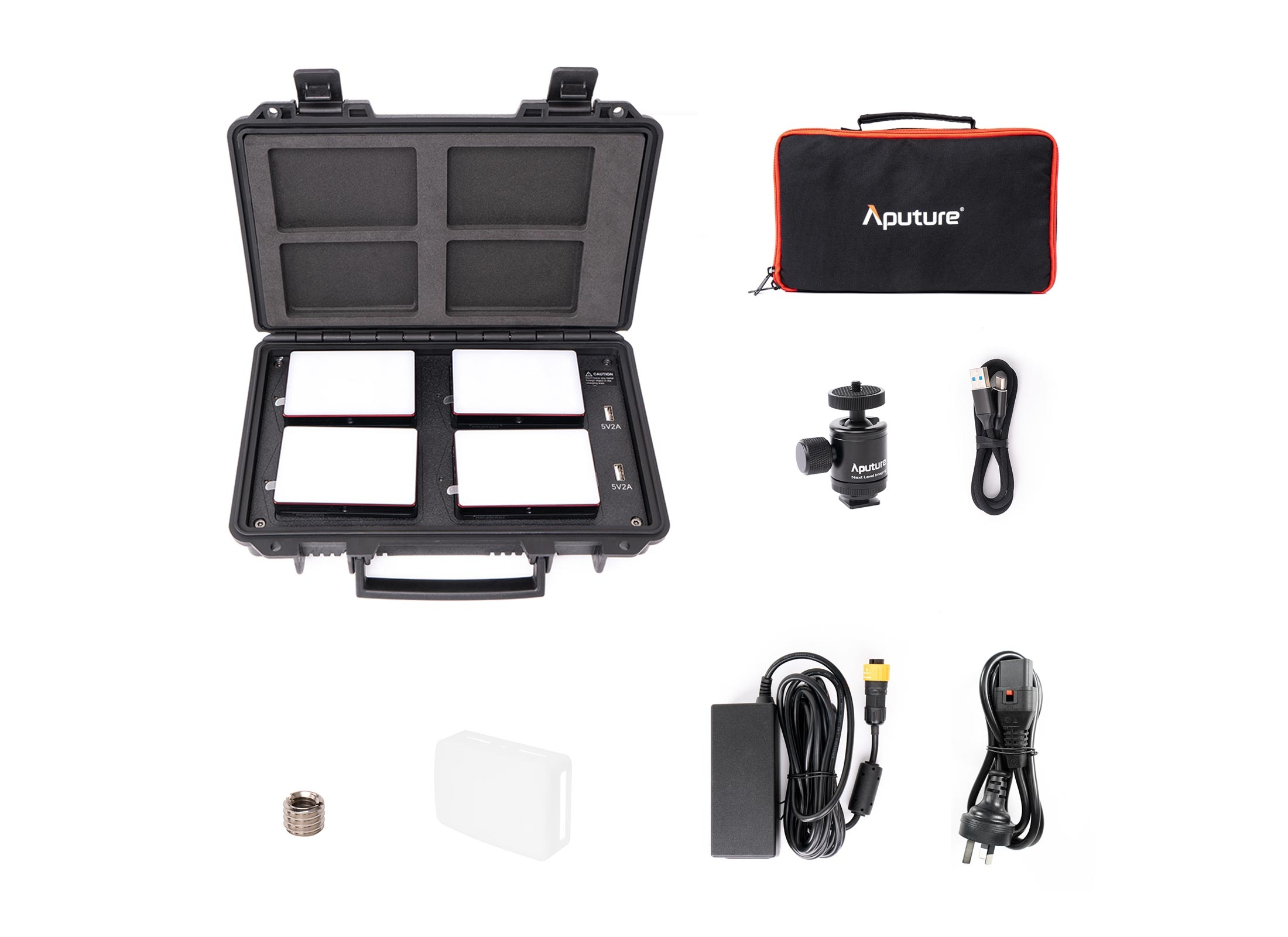Aputure MC 4-Light Travel Kit 1
