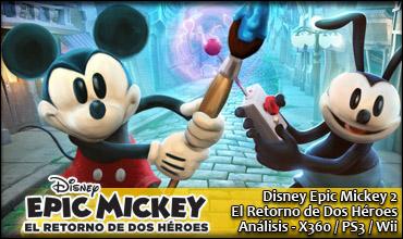 Epic Mickey El Retorno de Dos Héroes