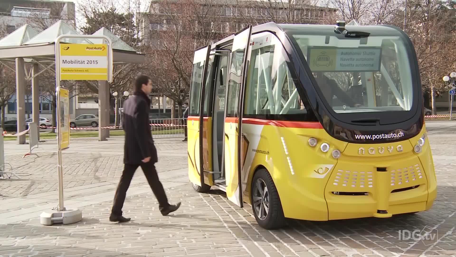 Primer autobus autónomo sin conductor