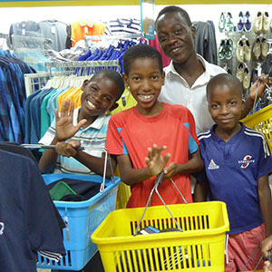 Boys Out Shopping Malawi Christmas Gifts