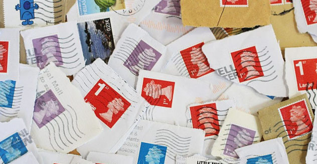 collecting stamps to donate
