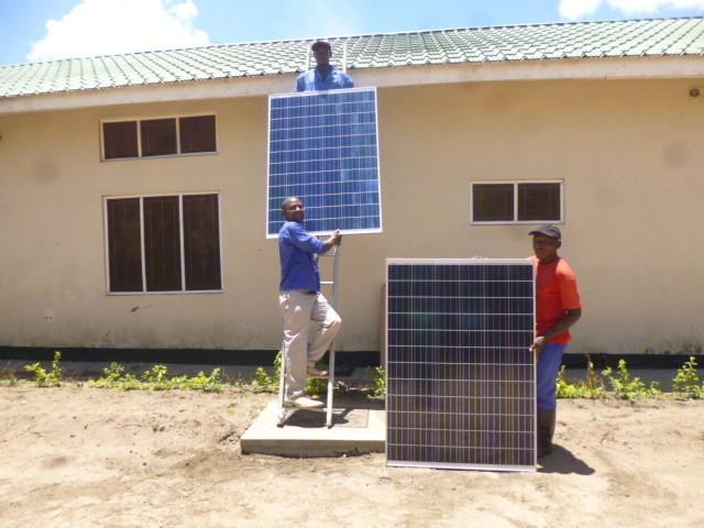 solar panels in Malawi