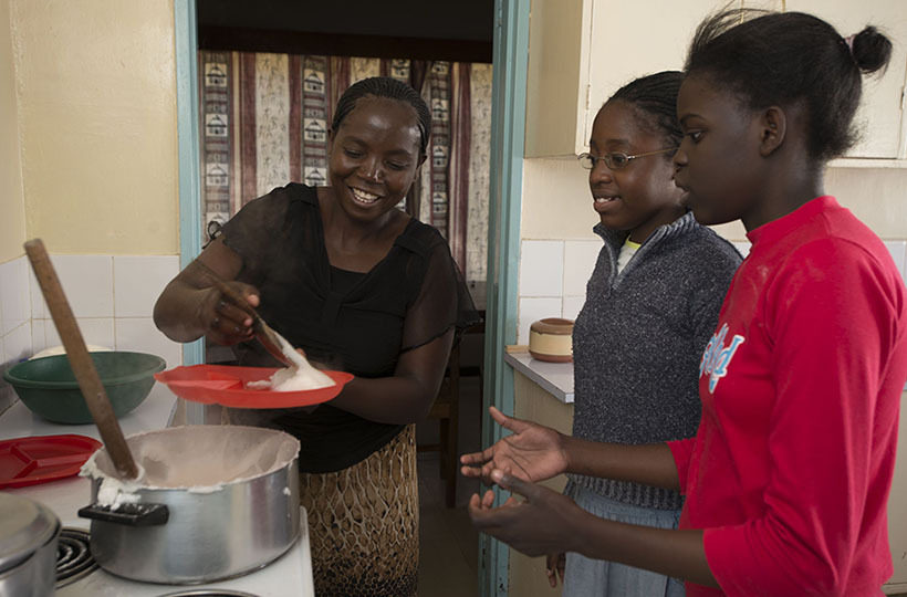 Meals in the foster homes are more than nourishment, they are a connection to the community and traditions around them