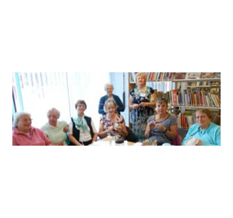 Let's hear it for the ladies of Werrington 'Knit and Natter' Group