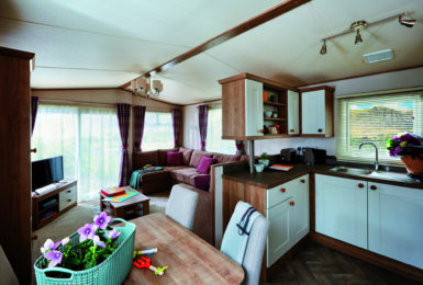 A new holiday home development at Amble Links park in Northumberland.