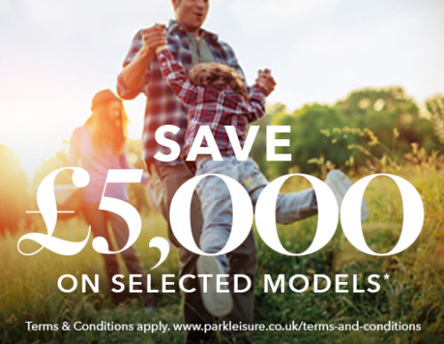 Save £5,000 on holiday homes & lodges