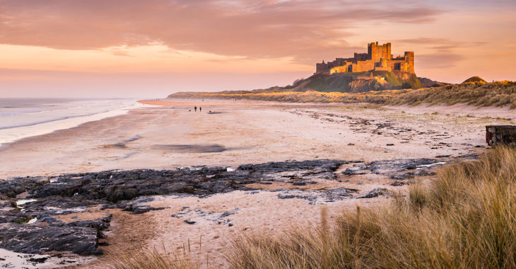 Discover the amazing coastline of Northumberland