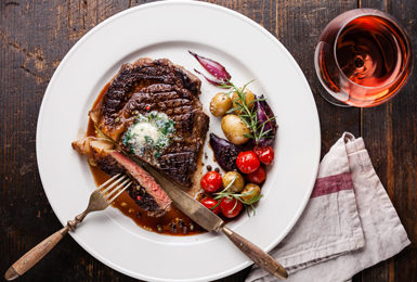 Every Thursday is Steak night, featuring our cut of the week dished up with fantastic tasty treats and a bottle of house wine for you and your dining partner, all for £25.