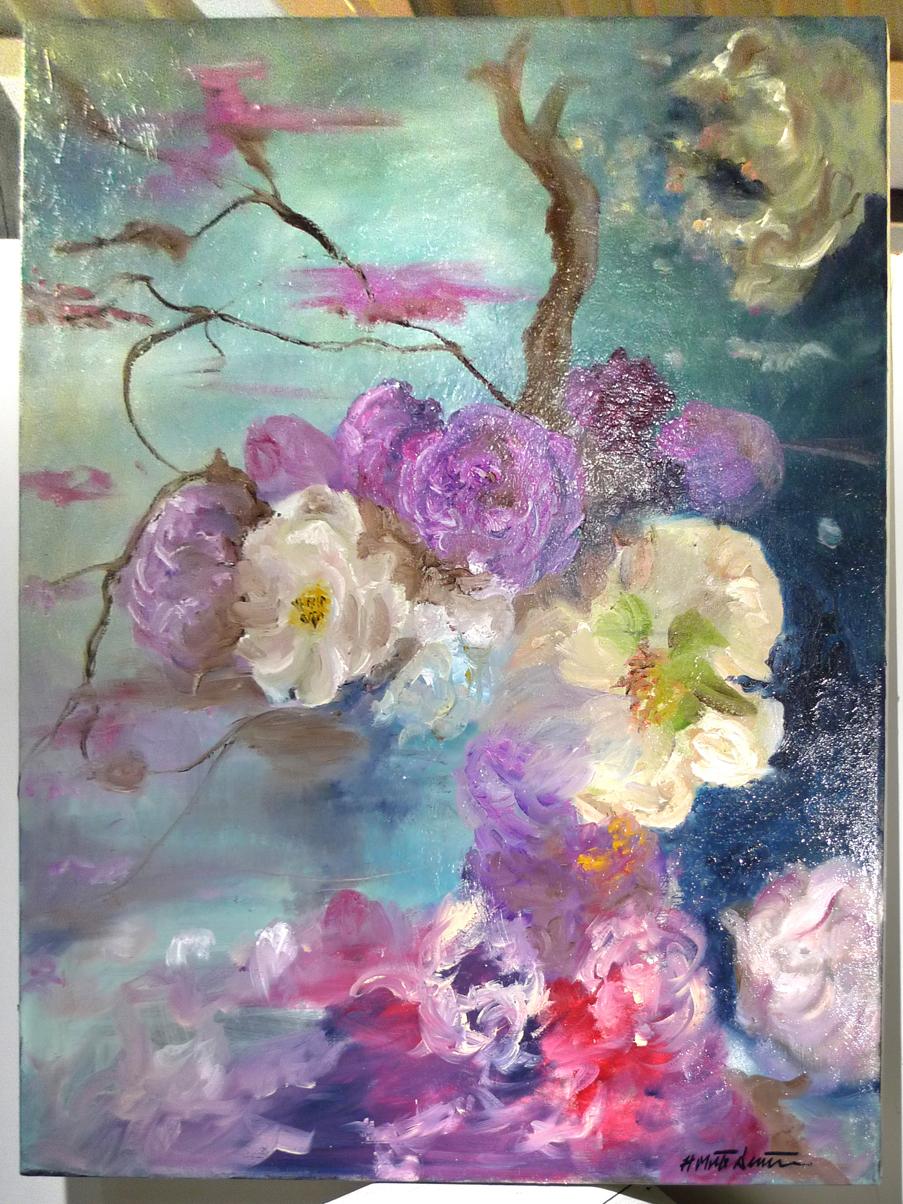 UNTITLED \u2022 11\u201dx14\u201d framed oil on canvas