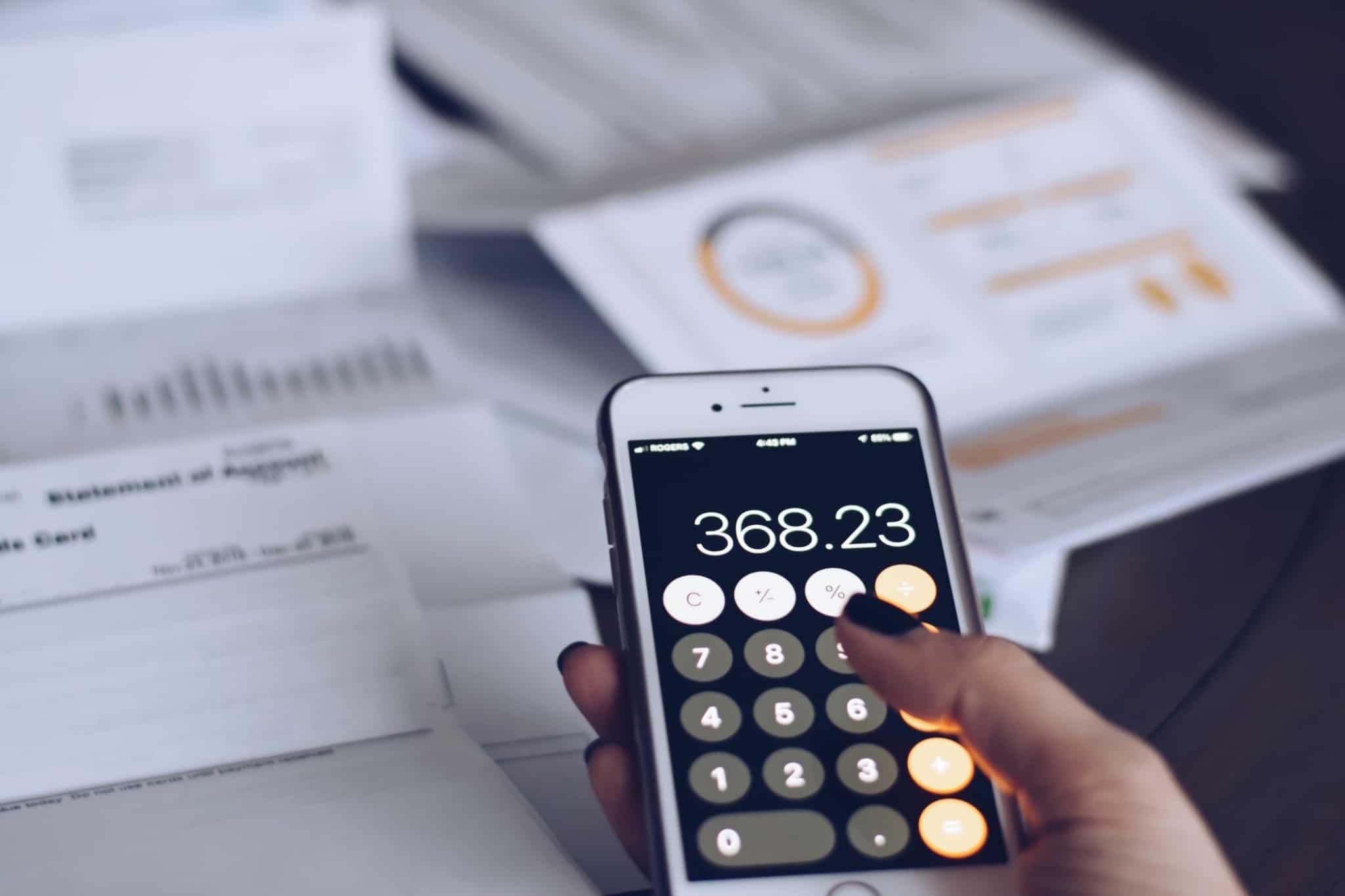 Recibos e faturas fazer contas calculadora telemarketing