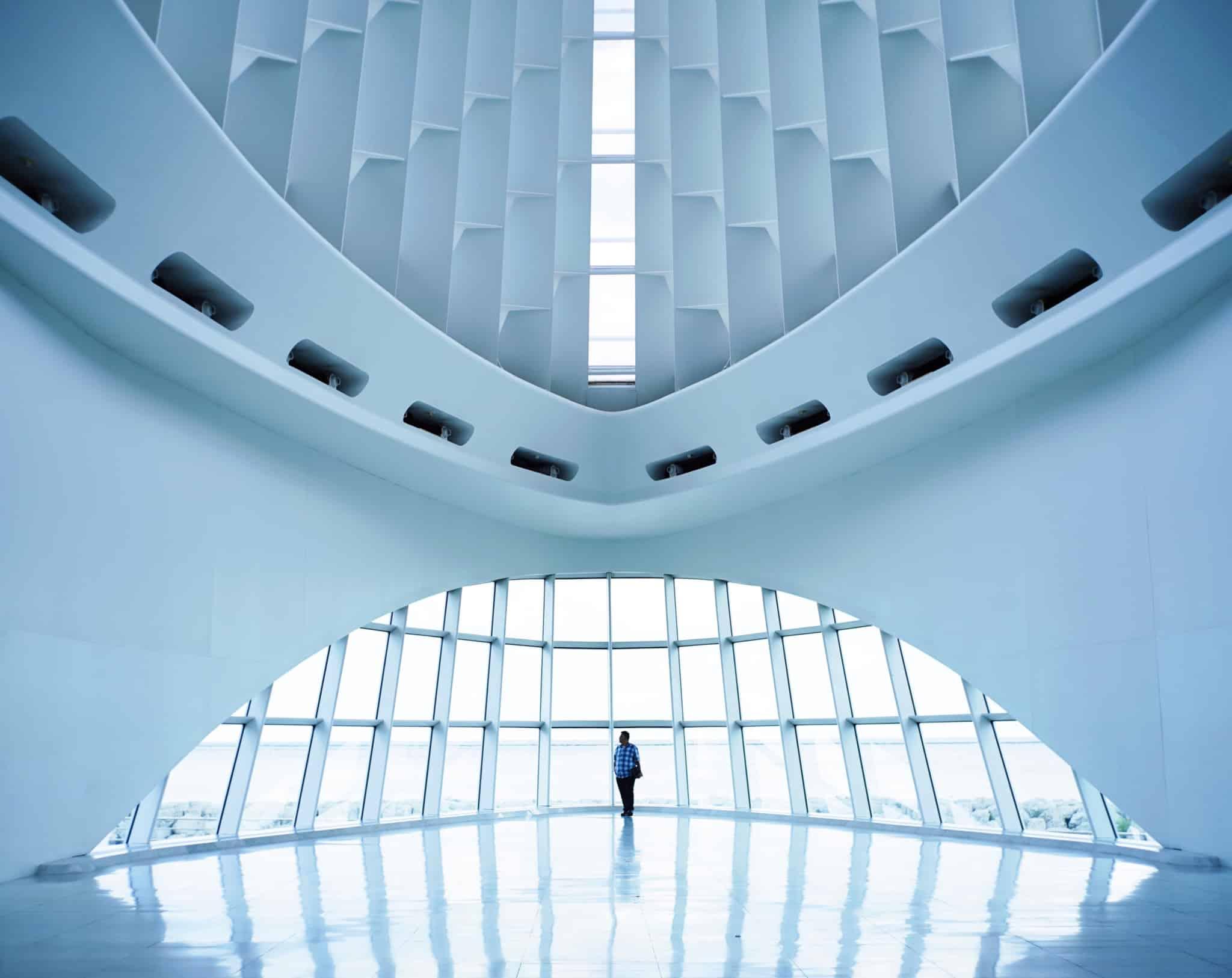 museu contemporâneo branco