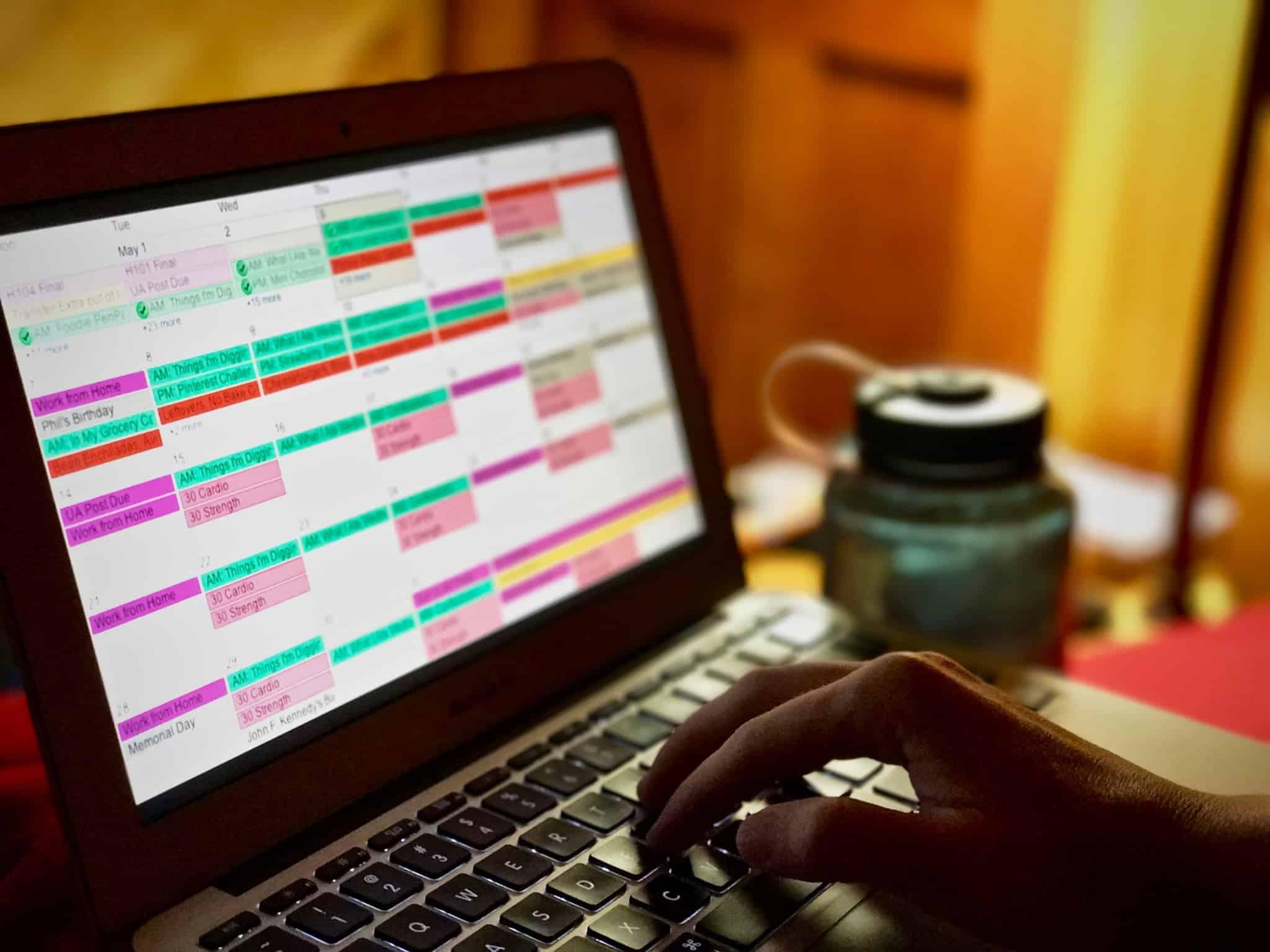 calendario online com varias tarefas