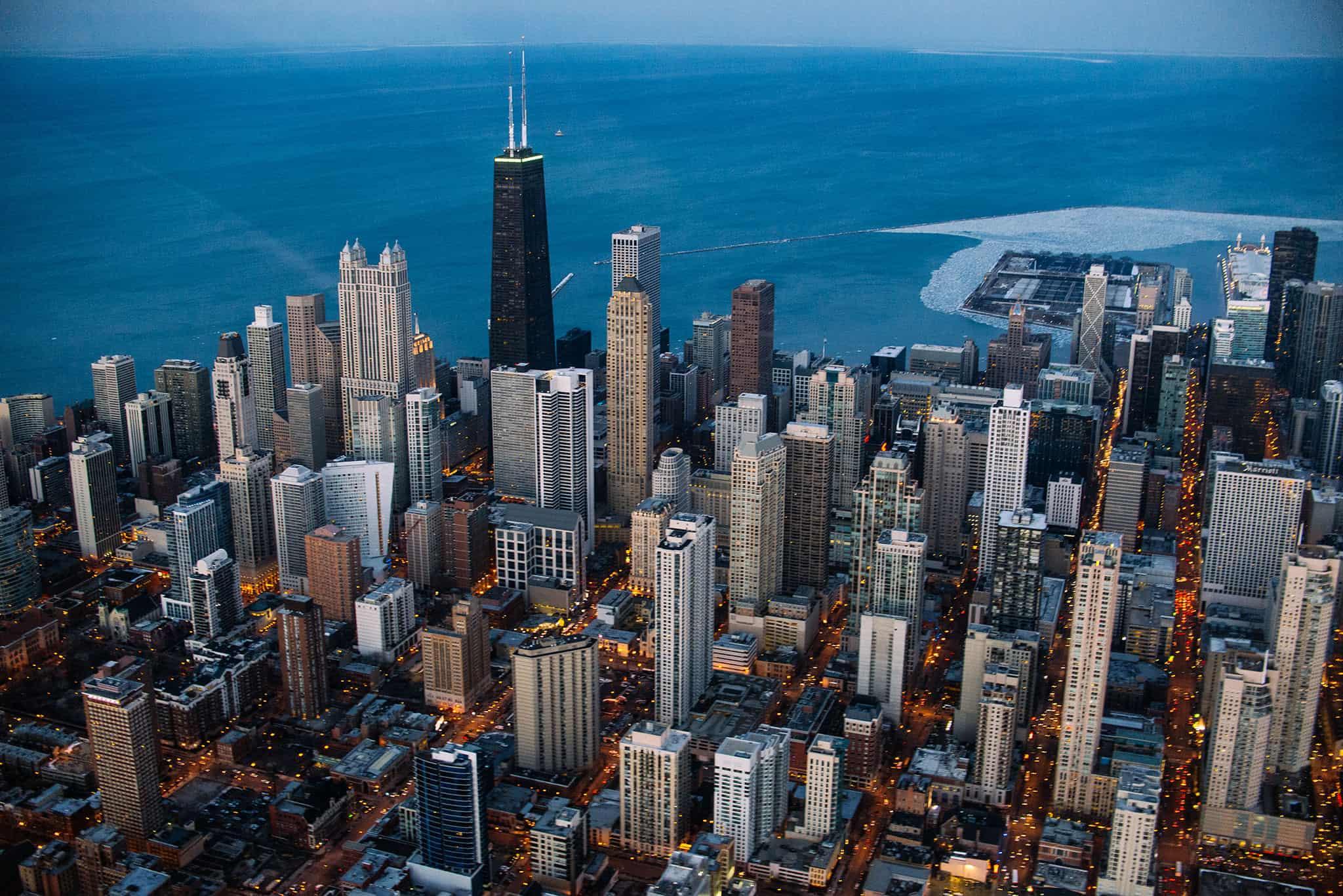 linha de arranha céus em chicago