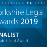 Summer shortlist success: Yorkshire Legal Awards 2019