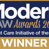 Emsleys attends the Modern Law Awards and wins Client Care Initiative of the Year