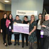 Emsleys raises £5,000 for St Gemma's Hospice