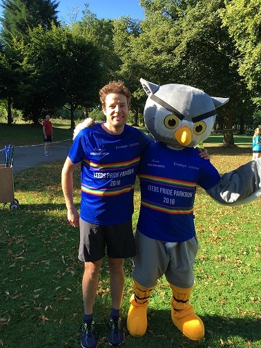 Andy Smith & Leeds Frontrunners' mascot