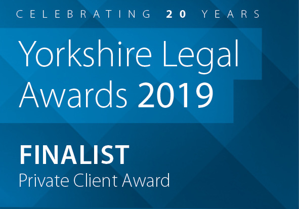 Yorkshire Legal Awards 2019 finalist logo - Private Client