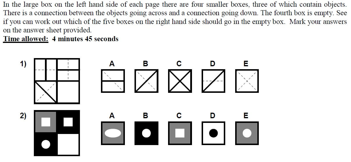 11+ Non-Verbal Reasoning Practice Question