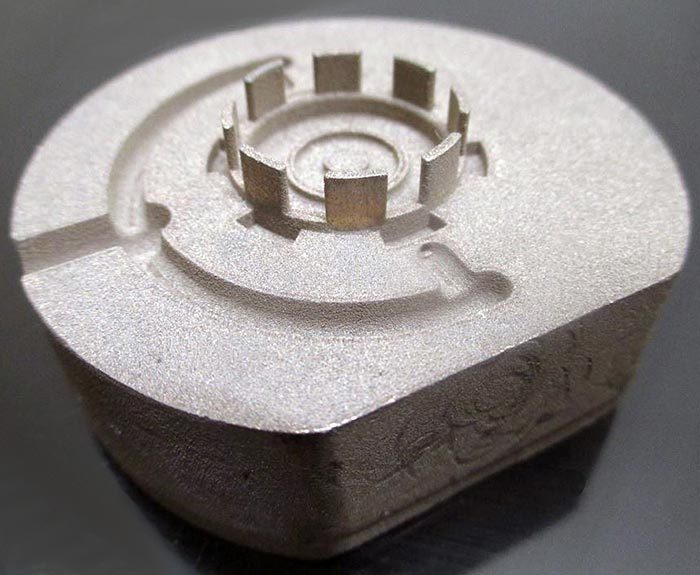 Additive Manufactured Part Before Blasting