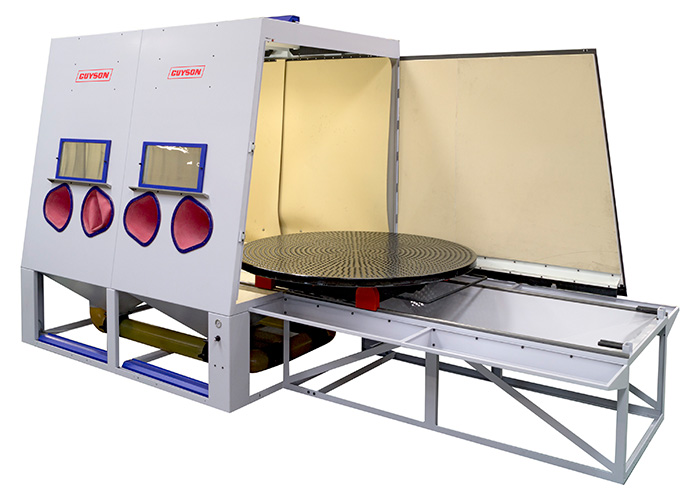 Euroblast 2 metre blast cabinet - ideal for Aerospace MRO