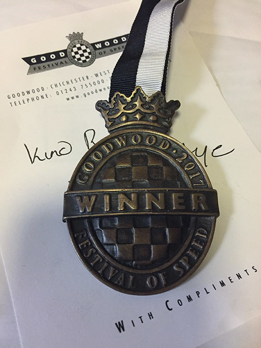 Goodwood 'Festival of Speed' Winners Medal