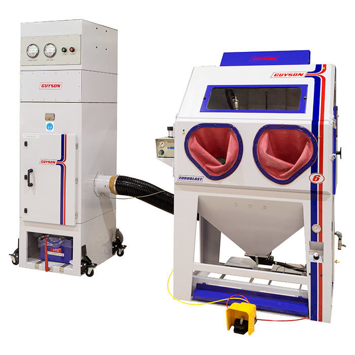 Guyson Euroblast 6SF AM (Additive Manufacturing) blast cabinet with C600 (AM) Dust Collector