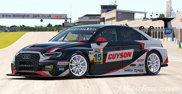 Guyson liveried Audi RS3 TCR car