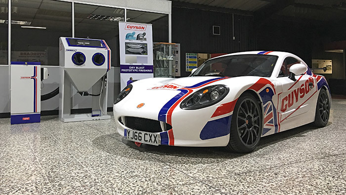 Team Guyson Ginetta in Guyson's Showroom