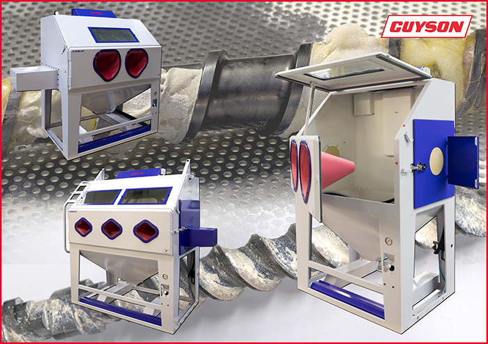 Guyson Blast Cabinets for extrusion screw cleaning