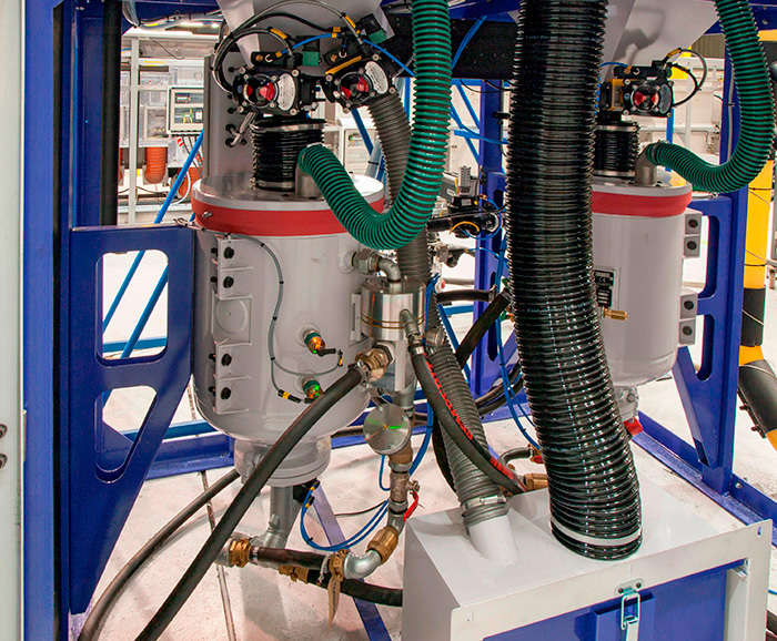 Twin Guyson 55 litre Pressure Pots
