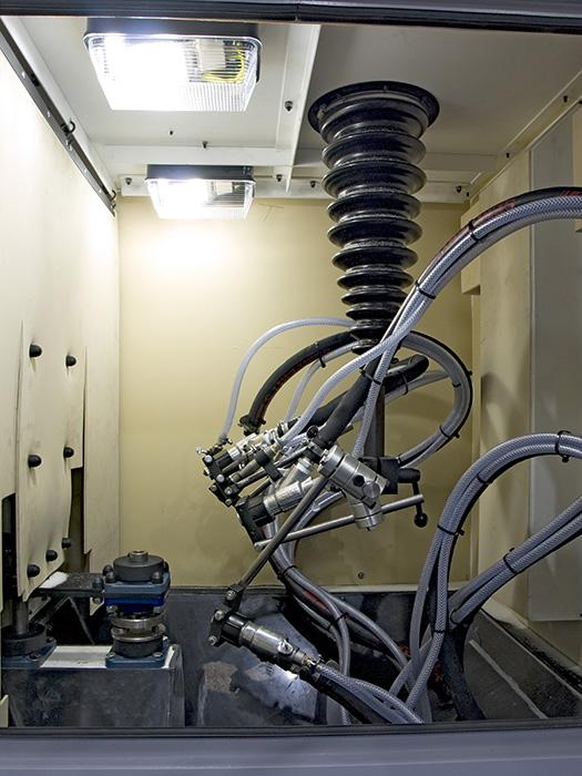 Guyson RXS400 INside Blast Chamber