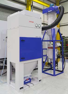 Guyson C800 Dust Collector, G55 Pressure Pot and Cyclone