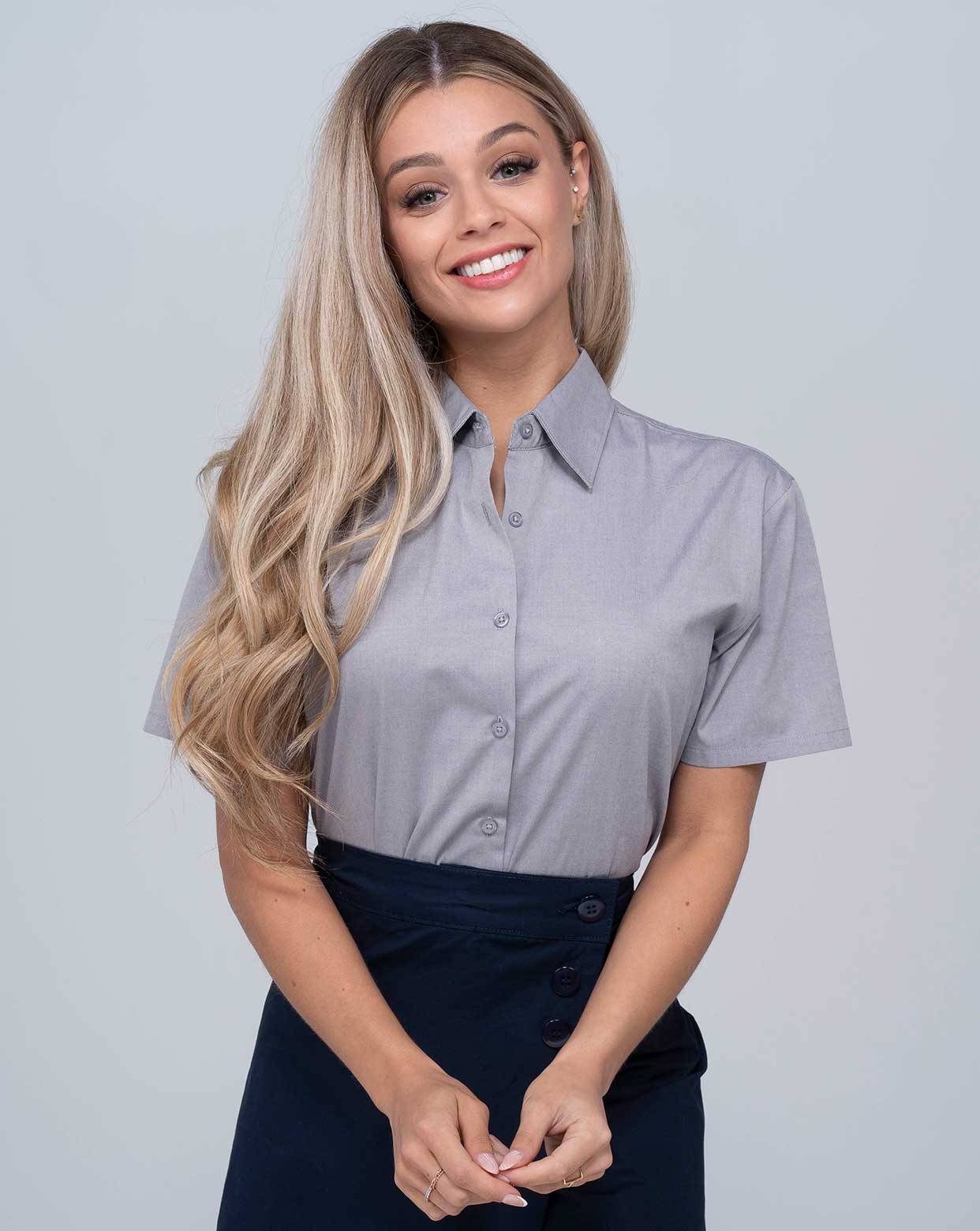 Lady Casual & Business SS Shirt  - SHLOXFSS