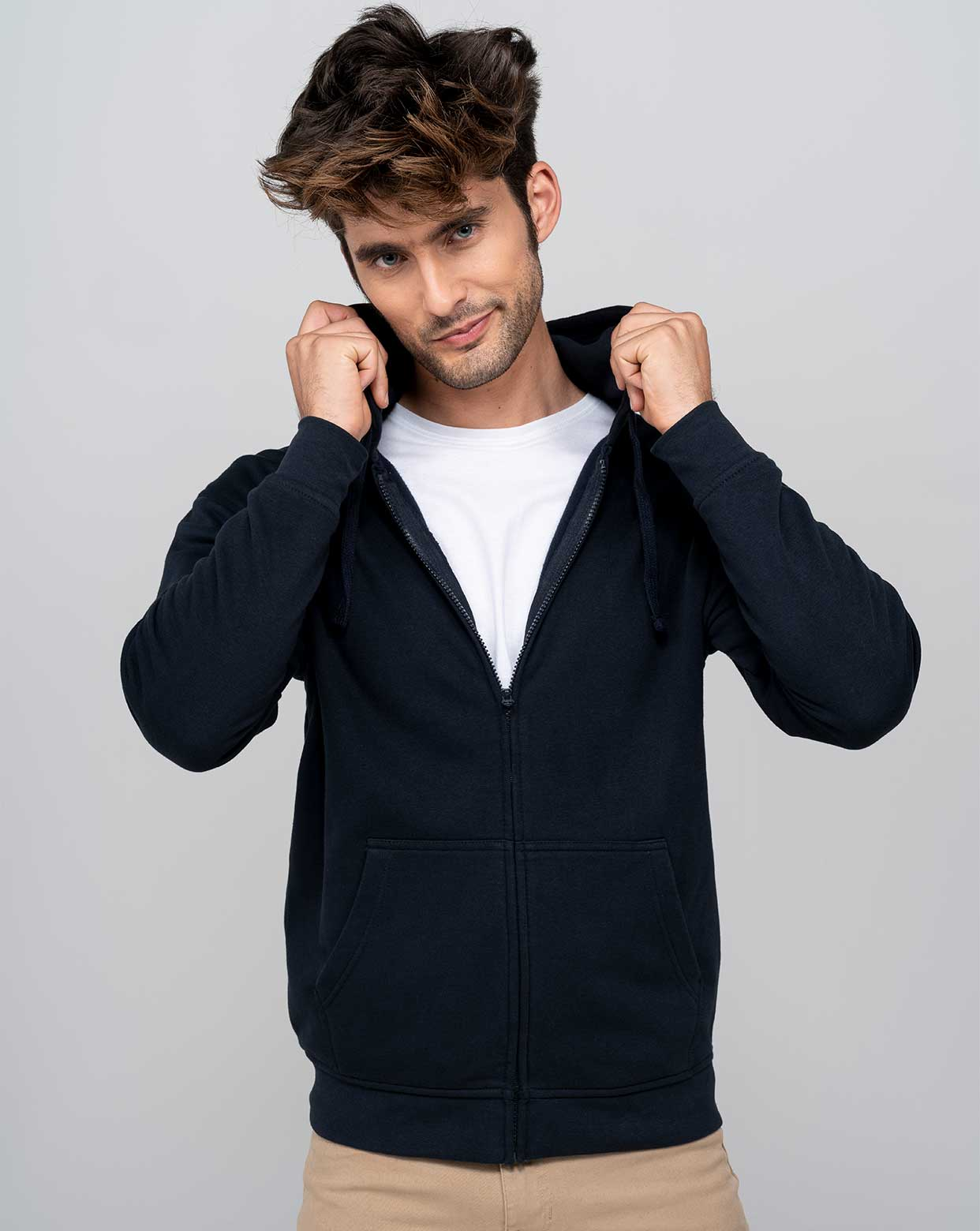 Hooded CVC Sweatshirt  - SWHOOD275