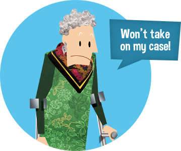 Solicitor won't take my case - case has no merit? | Review